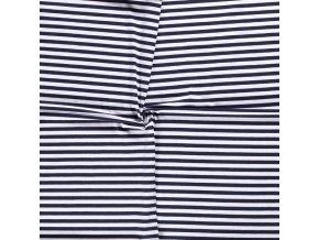 bavlneny uplet tmave modro bily pruh 1 cm