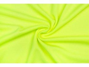 sportovni uplet pike 100 polyester zluty neon