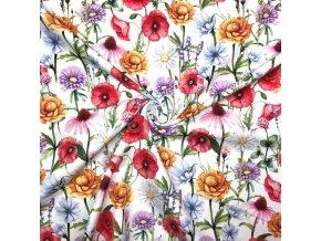 bavlneny uplet rozkvetle lucni kviti 1