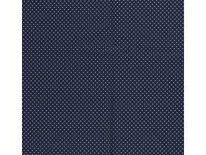 bavlneny uplet punticek na modre navy