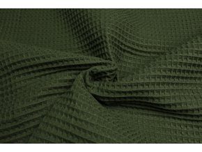 bavlna vafle khaki 2
