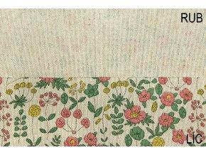 bavlna rezna zlutocervene kvety rub