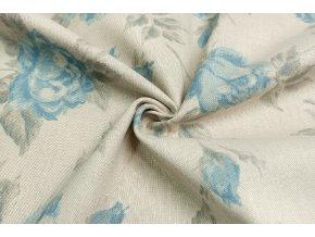 bavlna rezna velke modre kvety