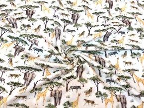 Bavlněný úplet safari