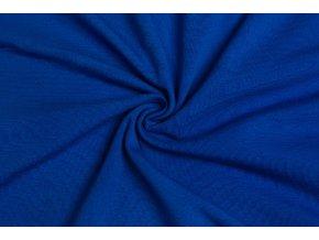 bavlneny uplet kralovsky modra 200 g m2