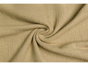 muselin bavlna bambusova viskoza tmava piskova