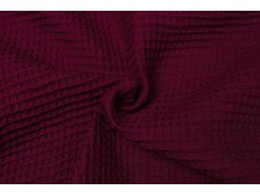 bavlna vafle bordo 2