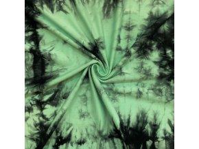 bambusovy uplet mintova batika 210 g m2