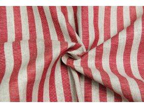 bavlna rezna pruhy cervene oboustranne