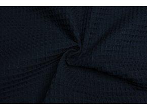 bavlna vafle modra navy 2