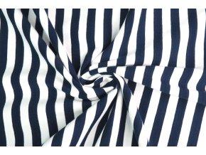 bavlneny uplet modrobily pruh 1 cm1