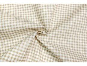 bavlnene platno bezove kosticky