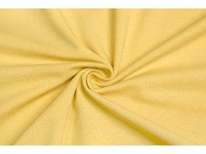 bavlneny uplet elasticky pastelova zluta 160 g m2