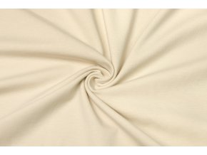 bavlneny uplet elasticky bezova 160 g m2