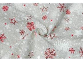 bavlna rezna vanocni vlocky a hvezdicky