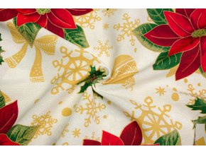 bavlna rezna vanocni hvezdy a cesminy