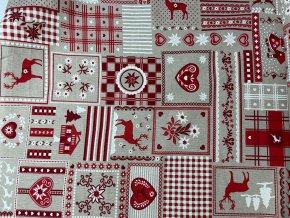 bavlna rezna vanocni patchwork