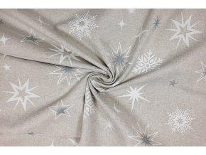 bavlna rezna hvezdy a vlocky na svetle rezne