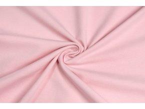 bavlneny uplet elasticky ruzova svetlejsi 160 g m2