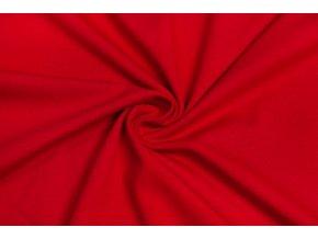bavlneny uplet elasticky cerveny 160 g m2