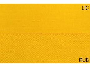 Teplákovina elastická BIO sytě žlutá 250 g/m2
