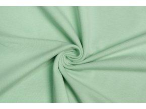 bio bavlneny uplet jednolic zelenkava 200 g m2