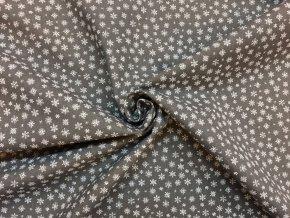 bavlnene platno bile mini vlocky na sede