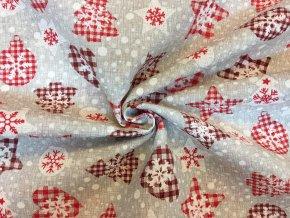 bavlna rezna vanocni motivy s karovym vzorem