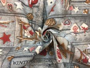 bavlna rezna vanocni ozdoby na sede 2