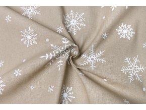 bavlnene platno bile male a velke vlocky na bezove1