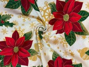 bavlna rezna vanocni ruze