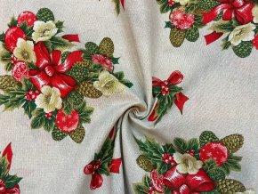 bavlna rezna vanocni vyzdoba