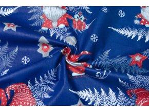 bavlnene platno zimni skritci na modre