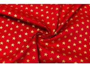 popelin zlate hvezdy na cervene