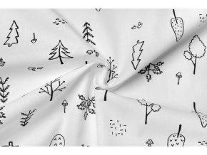 bavlněné plátno na vybarvování les.,