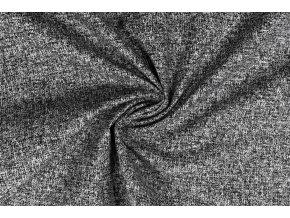 Bavlněné plátno černý melír1