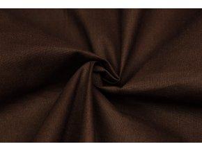 bavlnene platno cokoladove hnede