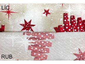 bavlna režná vánoční strom.