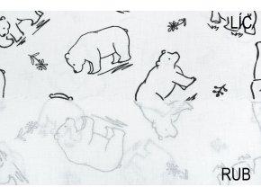 bavlnene platno na vybarvovani medvedi na bile