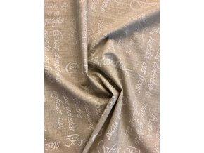 bavlna platno bile pismo na bezove 1