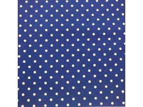 puntík bílý na tmavě modre