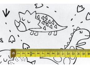 bavlnene platno na vybarvovani dino1