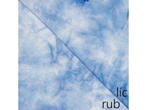 Bambusový úplet světle modrá batika