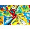 jednolici bavlneny uplet detsky komiks cerveny 3