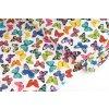 Bavlněné plátno barevní motýli