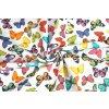 Bavlněné plátno barevní motýli1