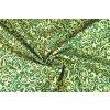 avlněné plátno zlatý brokátový vzor na lahvově zelené1