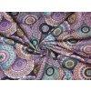 Bavlněný úplet fialová mandala1
