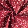 Bavlněné plátno kvítky bílé na temně červené