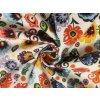 bavlnene platno neo folklorni kvety na bile mensi zakrut